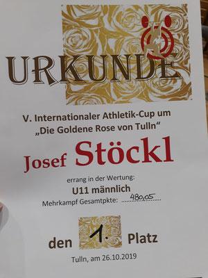Urkunde Stöckl Josef (KSV-Rum)