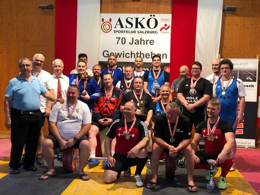 Siegerehrung Gruppe 7 (ASKÖ - Meisterschaft 2019)
