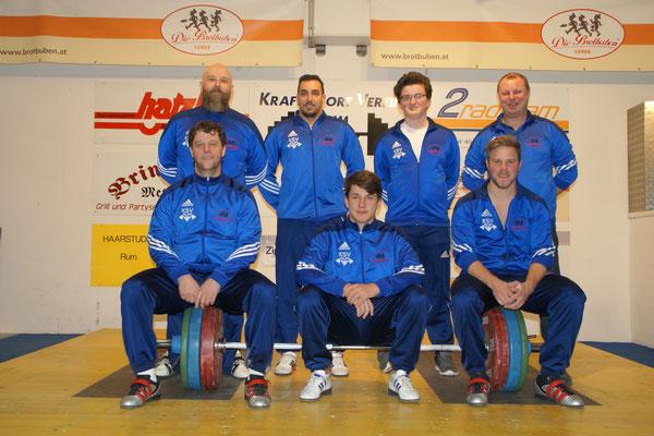 Mannschaft KSV-RUM (mit Ersatzmann Walkam Lukas & Trainer Uran Werner)