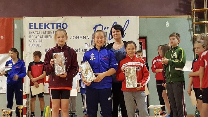Siegerehrung Gesamtwertung mit Steiner Victoria (KSV-RUM)