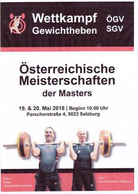 Plakat ÖM-Masters 2018