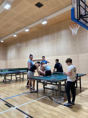 Tischtennis zum Aufwärmen