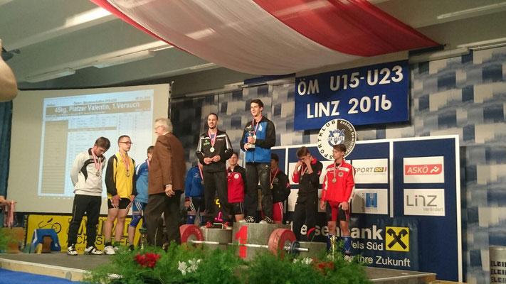 Siegerehrung Ehrlenbach Martin (KSC Bad Häring/Kufstein)