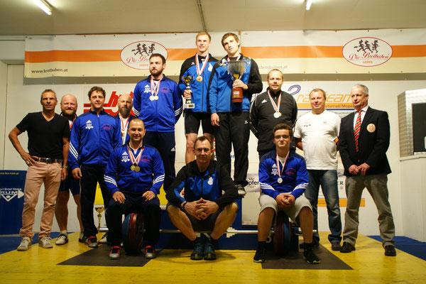 Siegerehrung Tiroler Meisterschaft 2015 (Gruppe schwer)