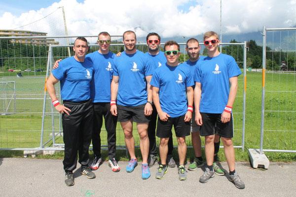 Mannschaft von KSC Bad Häring/Kufstein beim Riesen-Wuzzler-Turnier