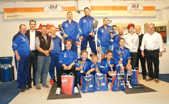 Siegerehrung Klubmeisterschaft KSV-Rum 2018
