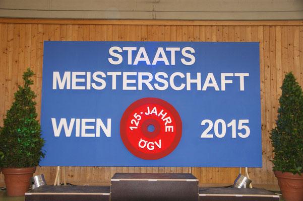 Wettkampfbühne Staatsmeisterschaft Wien 2015