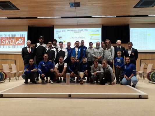 Gruppenphoto Siegerehrung Tiroler Landesliga 2019