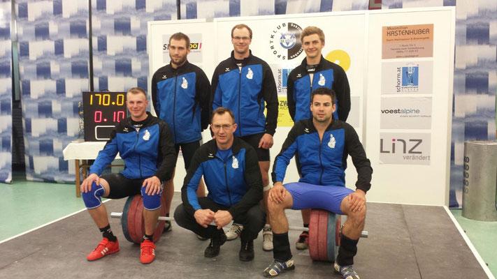 Mannschaft KSC Bad Häring-Kufstein mit Obmann Einberger Kurt