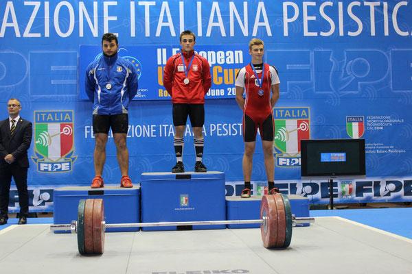 Siegerehrung U17 EU-CUP 2015 in Rom