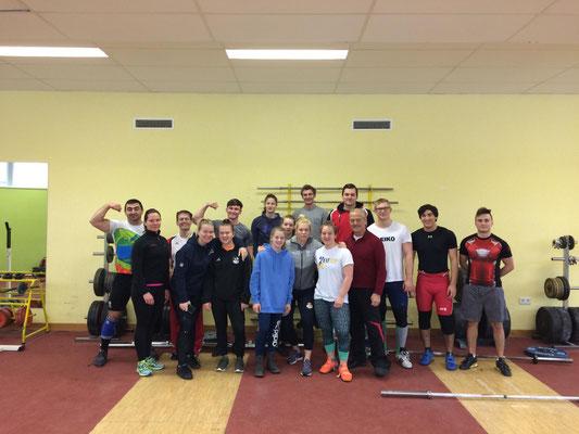 Teilnehmer Trainingslager des österreichischen Nationalkader mit Nationaltrainer Lechner Hans