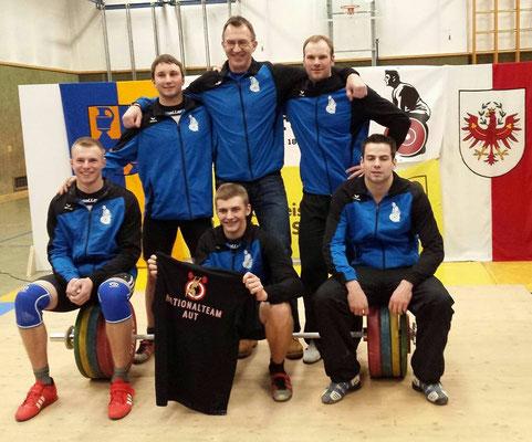 Mannschaft KSC Bad Häring/Kufstein & Obmann Einberger Kurt