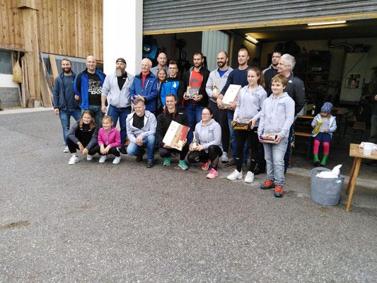 Siegerehrung Tiroler Mehrkampfmeisterschaft 2019