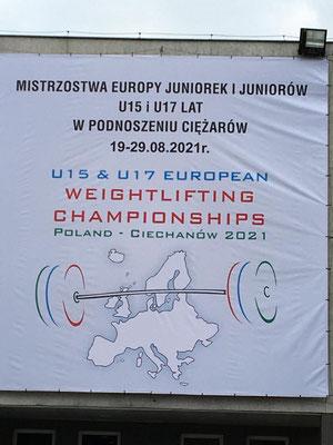 Plakat U15 & U17 Europameisterschaft