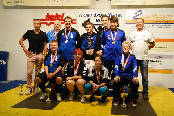 Siegerehrung Tiroler Meisterschaft 2015 (Gruppe leicht)