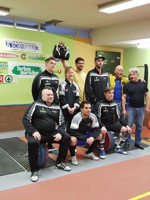 Mannschaftsphoto WKG AK Innsbruck/USC Dornbirn mit Betreuer