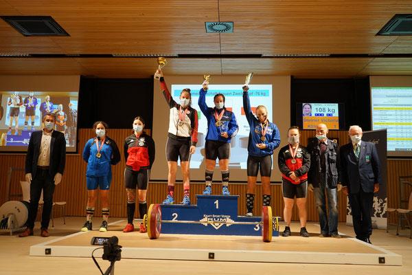 Siegerehrung Kategorie -76,00 kg mit Steiner Victoria (KSV-Rum)