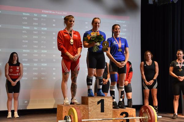 Siegerehrung Kategorie -71,00 kg mit Steiner Victoria und Lamparter Anna (KSV-Rum)