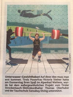 Steiner Victoria (KSV-Rum) - Bericht Kronen-Zeitung