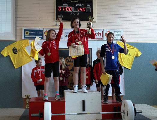 Siegerehrung U11-Weiblich Platz 3 Lamparter Anna (KSV-Rum)