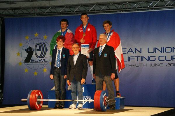 Siegerehrung Gruppe 5 (U20 - Männer)