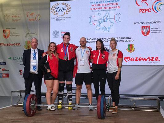 Österreichische Delegation mit Schiedsrichter Huber Manfred