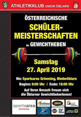 Plakat ÖM Schüler U9/U11/U13