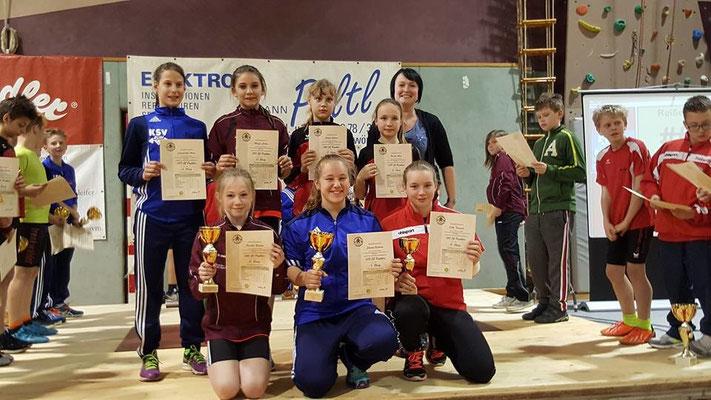 Siegerehrung Schüler U13 mit Steiner Victoria & Lamparter Anna (KSV-RUM)