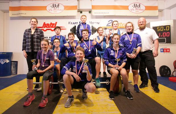 Gruppenphoto Siegerehrung Tiroler Schüler-u. Jugendmeisterschaft 2018