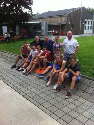 Mannschaft KSV-RUM mit Betreuer Uran Werner und Steiner Harald