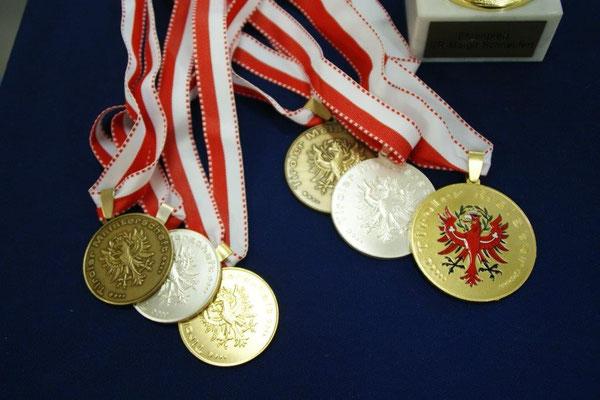 Medaillen bei der Tiroler Meisterschaft 2015