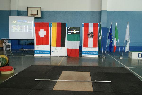 Wettkampfbühne Alpencup 2015