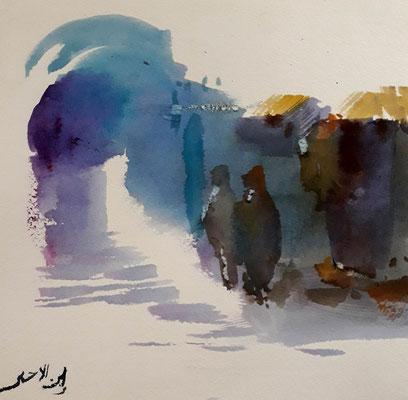 Aquarelle Mustapha Ben Lahamar