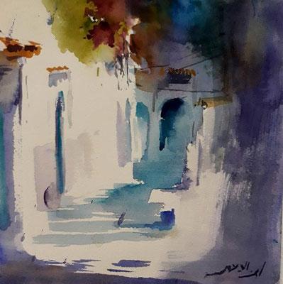 Aquarelle de Mustapha Ben Lahmar