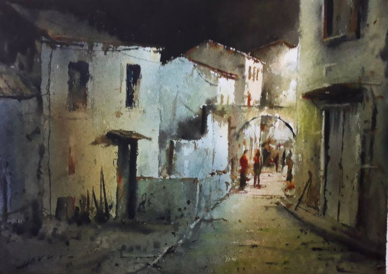 Aquarelle de David Chauvin