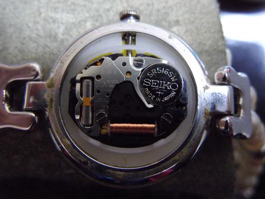 電池交換前のCAMELLIA