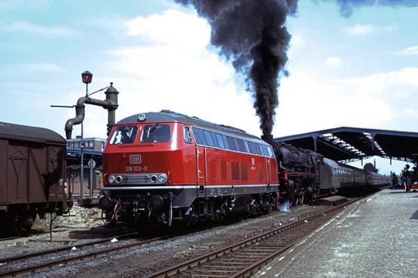 Diesellok Probefahrt, Husum 1970  I  Copyright by Stiftung Eisenbahn Archiv Braunschweig