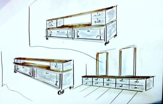 archi d 39 int rieur caen vente mobilier et meuble industriel. Black Bedroom Furniture Sets. Home Design Ideas