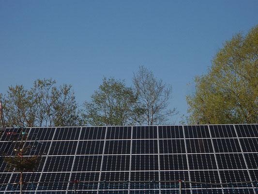 Geschafft! Die Photovoltaik-Anlage ist auf dem Dach!