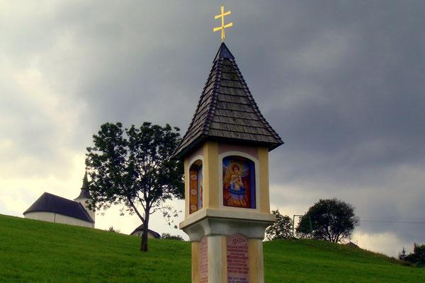 Kurz vor dem Ortszentrum von Modriach
