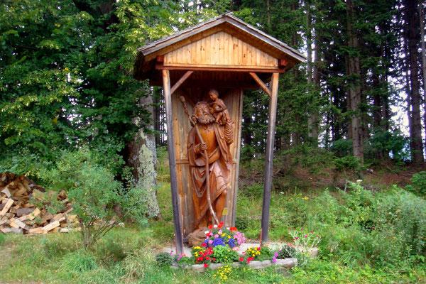 Die Christophorusstatue in Osterwitz