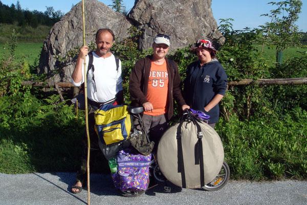 Wladimir aus Weißrussland, Paul aus Krasnojarsk in Sibirien und Anna aus Dresden