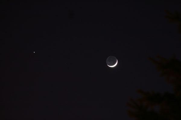 25 mars 2012 - conjonction Lune-Jupiter
