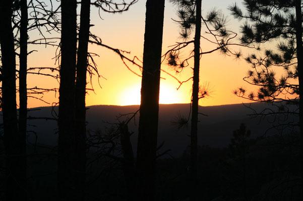 29 août 2008 - Coucher de Soleil sur les Black Hills (USA)
