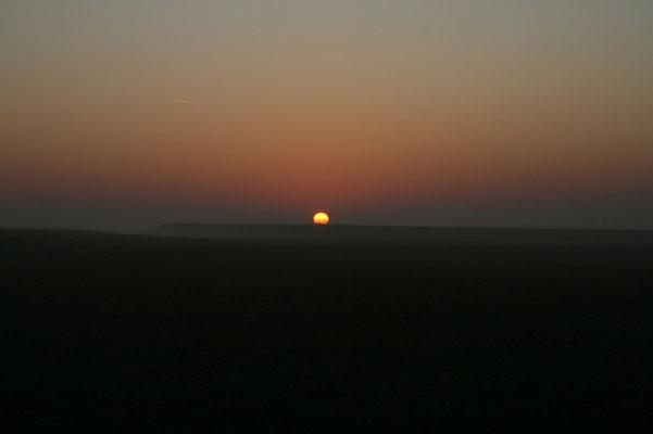 27 septembre 2008 - Lever de Soleil sur la plaine de Baisieux-Cysoing