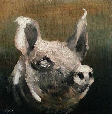 Peinture cochonne 27x27 cm