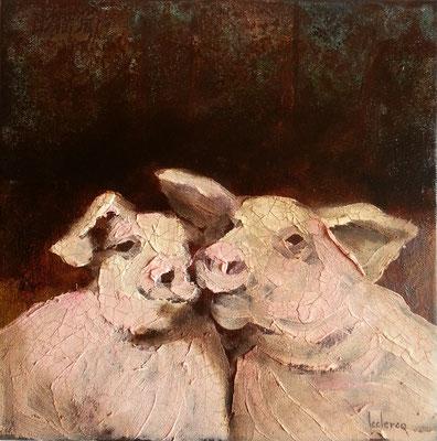 L'Amour c'est cochon 30x30 cm