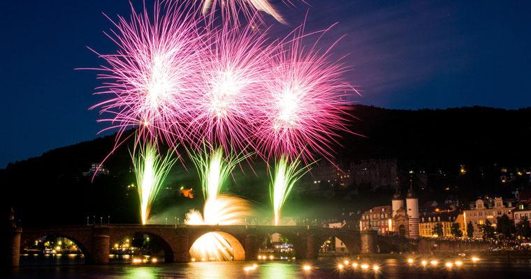 Heidelberger Schlossbeleuchtung.