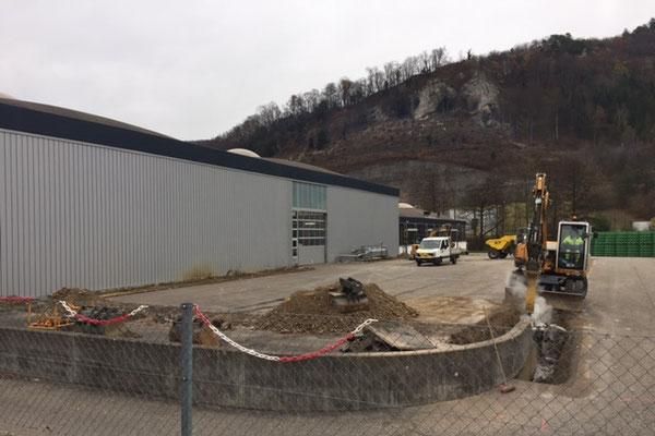 Fortschritt Umbau Lagererweiterung Eptinger Mineralwasser