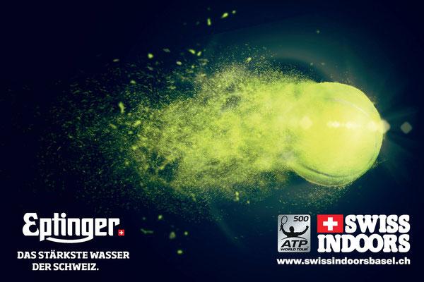 Eptinger Mineralwasser Sponsor bei den Swiss Indoors
